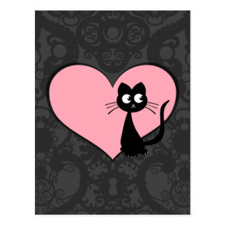 Cartão Postal Amor III de Kuro do gatinho