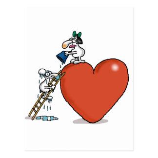 Cartão Postal Amor impossível - escalada do amor