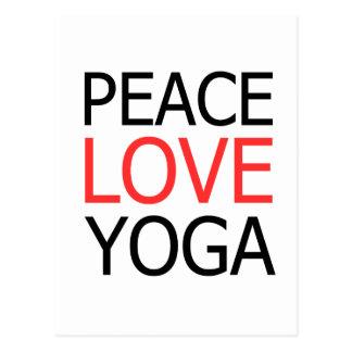 Cartão Postal Amor & ioga da paz