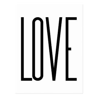Cartão Postal Amor legal - design gráfico minimalista
