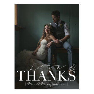 Cartão Postal Amor moderno & obrigado Wedding dos obrigados |
