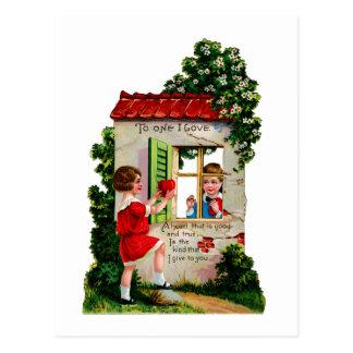 Cartão Postal Amor na janela do tha