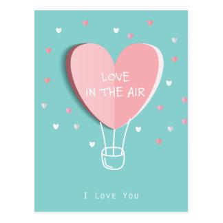 Cartão Postal Amor no ar