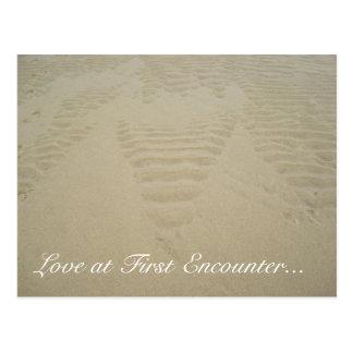Cartão Postal Amor no primeiro encontro…