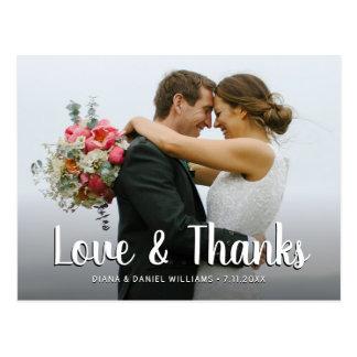 Cartão Postal Amor & obrigados que Wedding o obrigado você foto