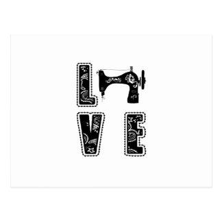 Cartão Postal amor para sewing