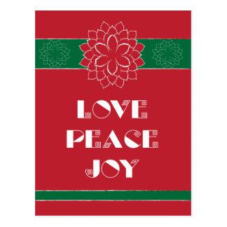 Cartão Postal Amor, paz, alegria II