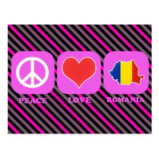 Cartão Postal Amor Romania da paz