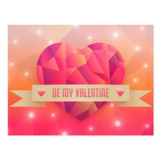 Cartão Postal Amor romântico do dia dos namorados moderno