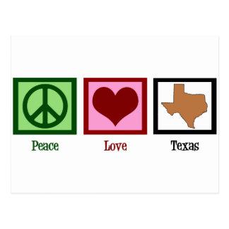Cartão Postal Amor Texas da paz