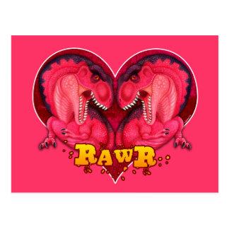 Cartão Postal Amor-um-saurus de Rawr