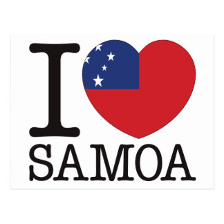 Cartão Postal Amor v2 de Samoa