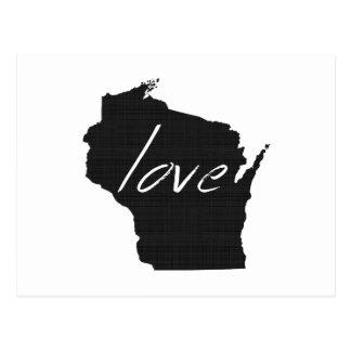 Cartão Postal Amor Wisconsin