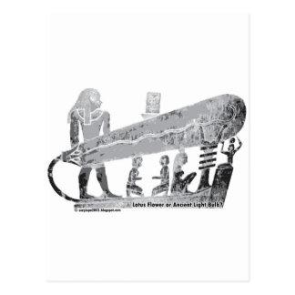 Cartão Postal Ampola de Egipto antigo Dendera ou flor de lótus?