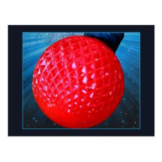 Cartão Postal Ampola vermelha de Natal do diodo emissor de luz