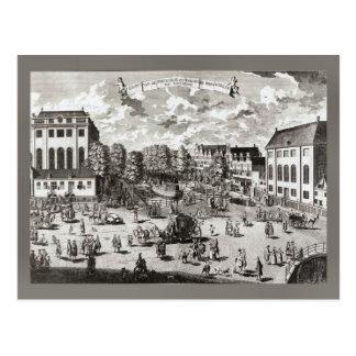 Cartão Postal Amsterdão do século XIX, sinagoga portuguesa