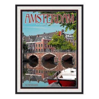 Cartão Postal Amsterdão - Keizersgracht