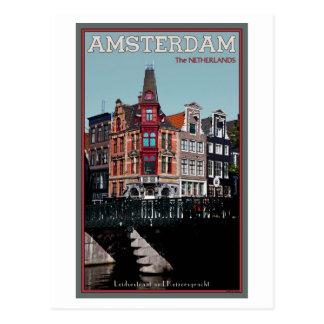Cartão Postal Amsterdão - Leidsestraat - Keizersgracht