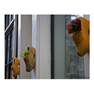 Cartão Postal Amsterdão - obstruções de madeira