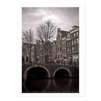 Cartão Postal Amsterdão - Oudezigds Voorburgwal