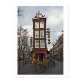Cartão Postal Amsterdão - pequeno bar