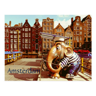 Cartão Postal Amsterdão retro