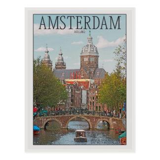 Cartão Postal Amsterdão - Sint Nicolaaskerk