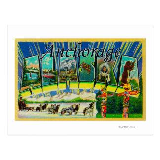 Cartão Postal Anchorage, Alaska - grandes cenas da letra