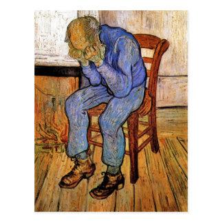 Cartão Postal Ancião na amargura por Vincent van Gogh 1890