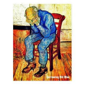 Cartão Postal Ancião Sorrowing por Van Gogh