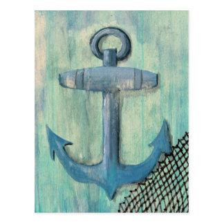Cartão Postal Âncora azul