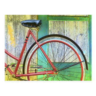 Cartão Postal Andando de bicicleta do ciclo da bicicleta que dá