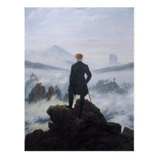 Cartão Postal Andarilho acima do mar da névoa