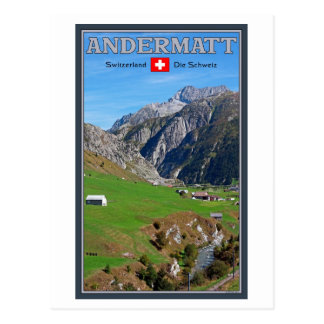Cartão Postal Andermatt