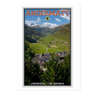 Cartão Postal Andermatt, suiça