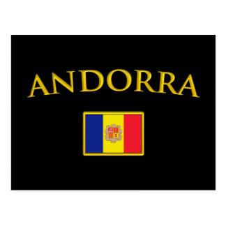 Cartão Postal Andorra dourado