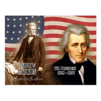 Cartão Postal Andrew Jackson - 7o presidente dos E.U.