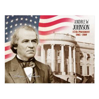 Cartão Postal Andrew Johnson - 17o presidente dos E.U.