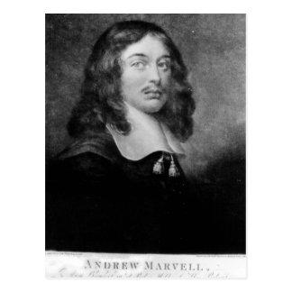 Cartão Postal Andrew Marvell, gravado por Raphael Smith de John