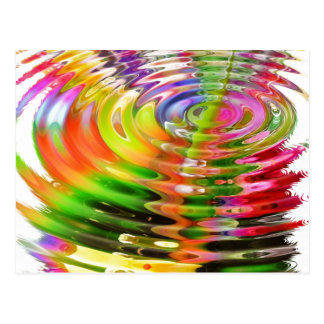 Cartão Postal Anéis da água do arco-íris