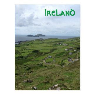 Cartão Postal Anel da vista para o mar do irlandês de Ireland do
