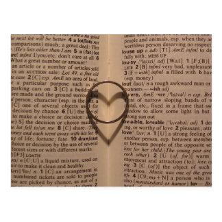 Cartão Postal Anel do amor - antiguidade