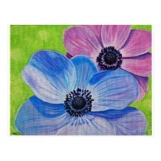 Cartão Postal Anêmonas do primavera
