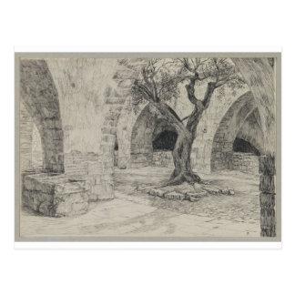 Cartão Postal Anexo do convento arménio, Jerusalem