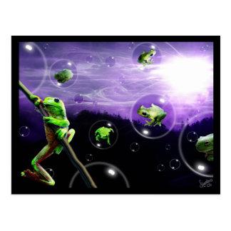 Cartão Postal Anfíbios Bubblemania