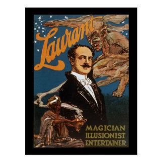 Cartão Postal Anfitrião do illusionist do mágico de Laurant
