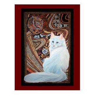 Cartão Postal Angora turco branco
