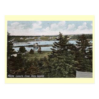 Cartão Postal Angra de Lowells, ilha de Orrs, Maine