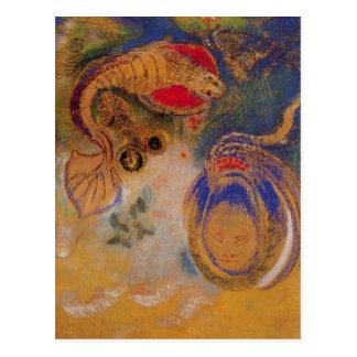 Cartão Postal Animais da parte inferior do mar por Odilon Redon