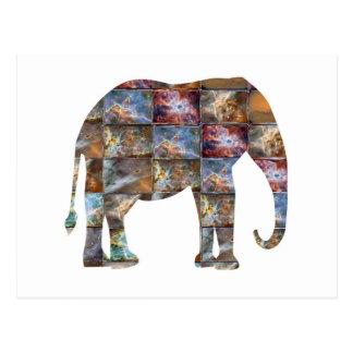 Cartão Postal Animal amigável majestoso: Azulejos de mármore do